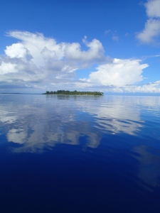 Glassy day on the Bismarck Sea. Water Temp 86.
