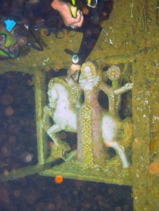 "The ""Lady and The Unicorn"" Deep within the wreck of the Coolidge"