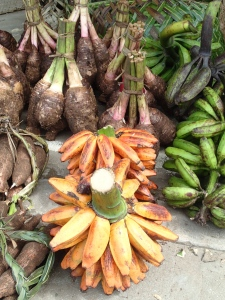 Amazing array of tropical fruits and vegetables at Luganville Market, Santo, Vanuatu